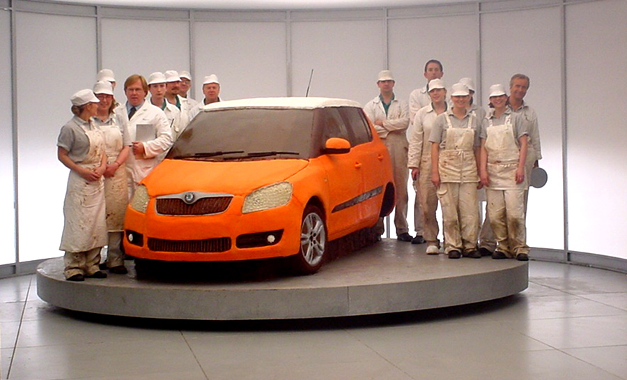 Skoda car cake advert for tv commercial